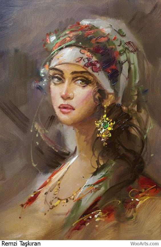 Remzi Taşkıran - Turkish Painter | Women & Such    | Woman