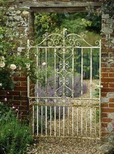 Antique Gate Photos A gorgeous white scroll-work gate like yours! Gate Photos A gorgeous white scroll-work gate like yours!A gorgeous white scroll-work gate like yours!