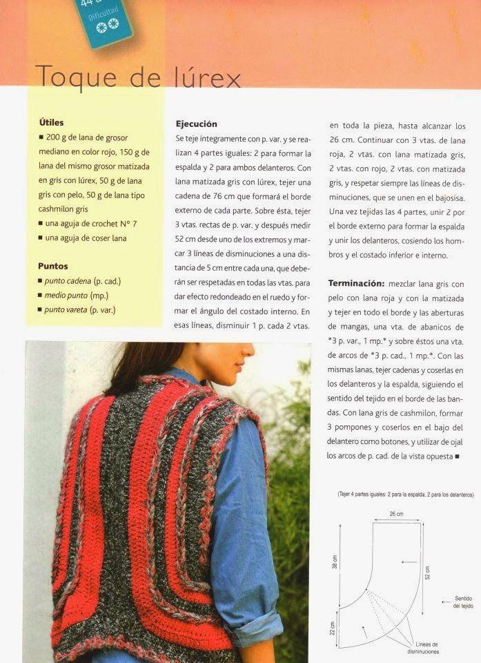 Chaleco formas disconformes Tricot Instrucciones - Patrones Crochet ...