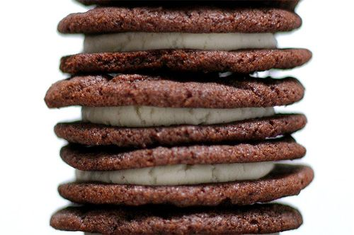"""Homemade Oreos- made these last night and my hubby & brother declared them """"better than regular Oreos"""". Score."""