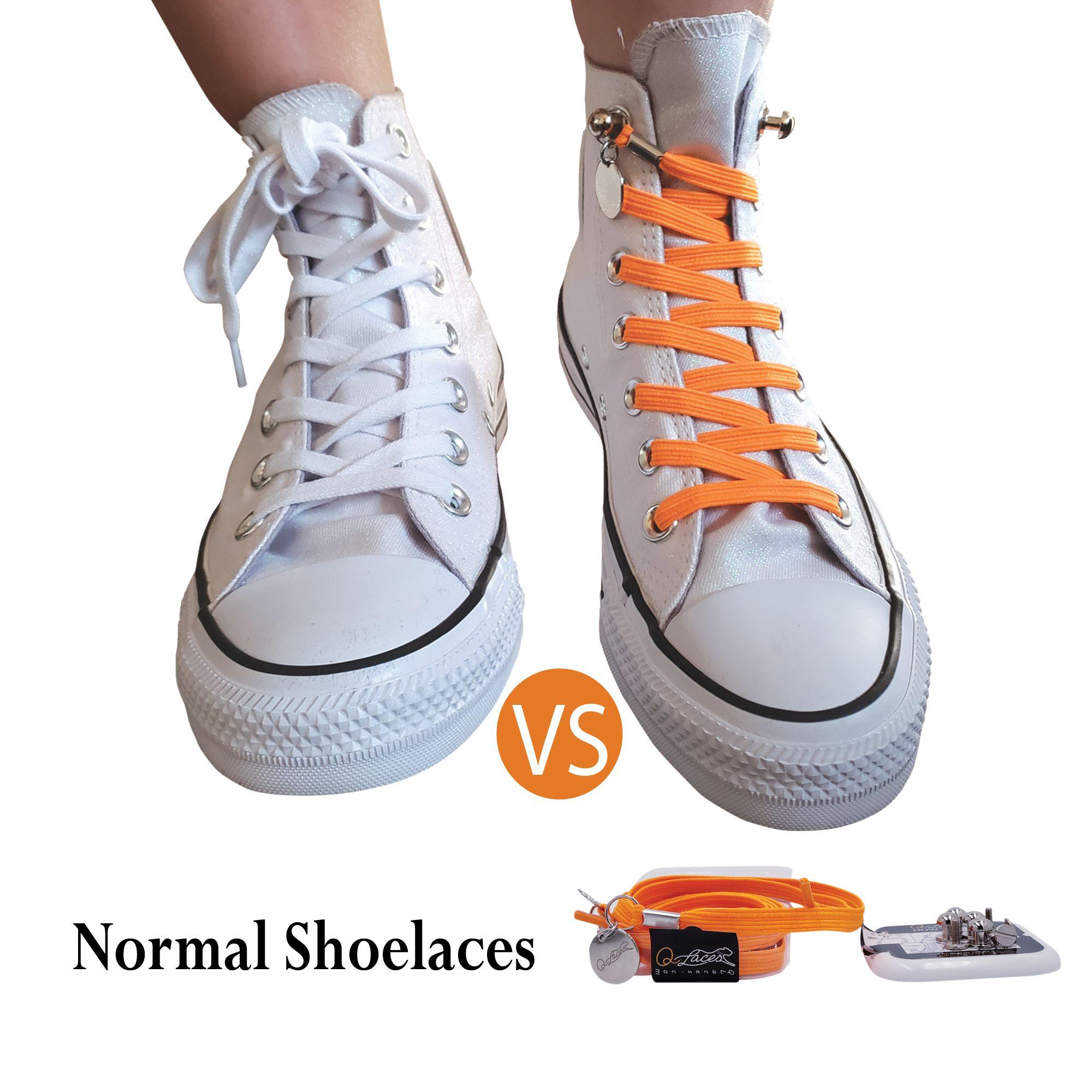 No Tie Shoelaces Vs Regular Shoelaces For Converse High