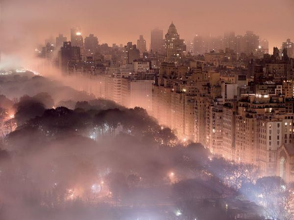 New York Skyline In Fog