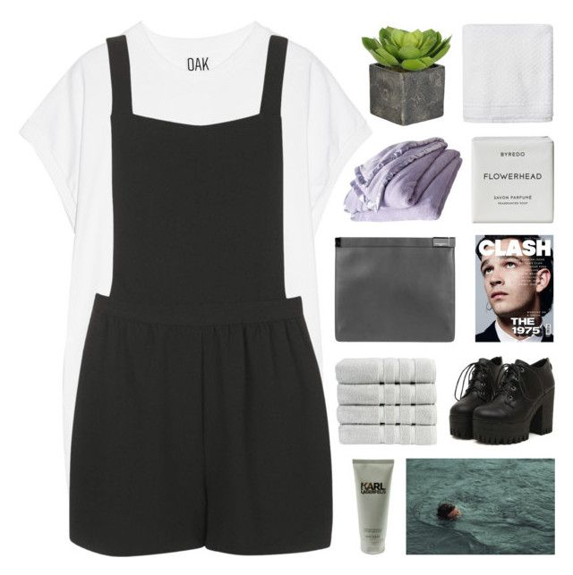 """said you'd always be my white blood"" by nxstalgia ❤ liked on Polyvore featuring Oak, Topshop, Karl Lagerfeld, Christy, Maison Margiela, Shabby Chic, Byredo and Simple Life"