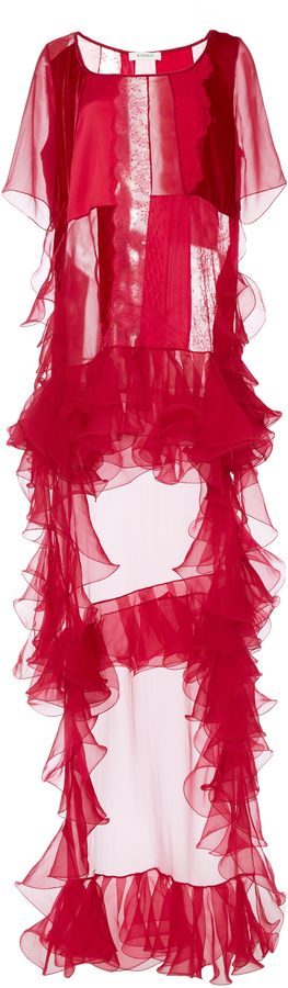 Ruffle Patchwork Dress Givenchy NzHiN1gfL