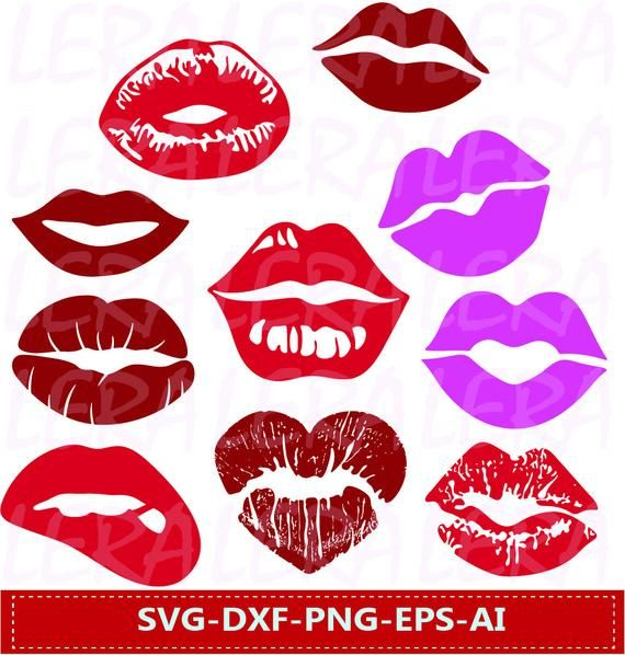 Lips Svg Lips Clipart Lips Kiss Clip Art Digital Download Lips