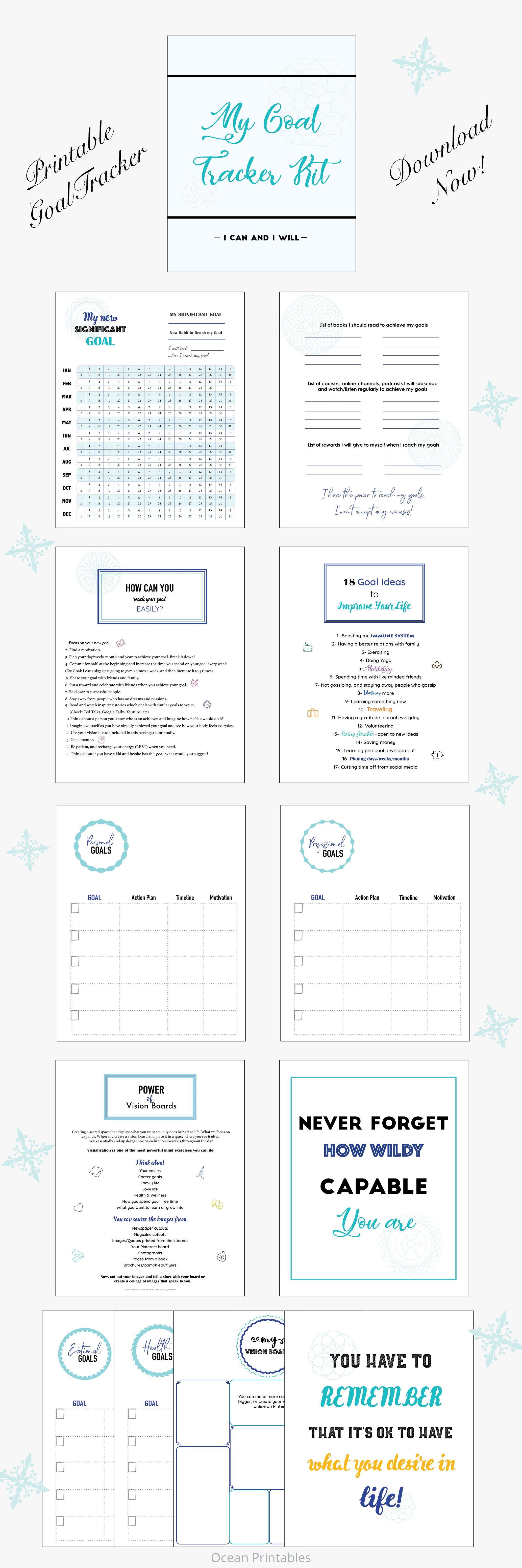 Ultimate Goal Planner Minimalist Printable Daily
