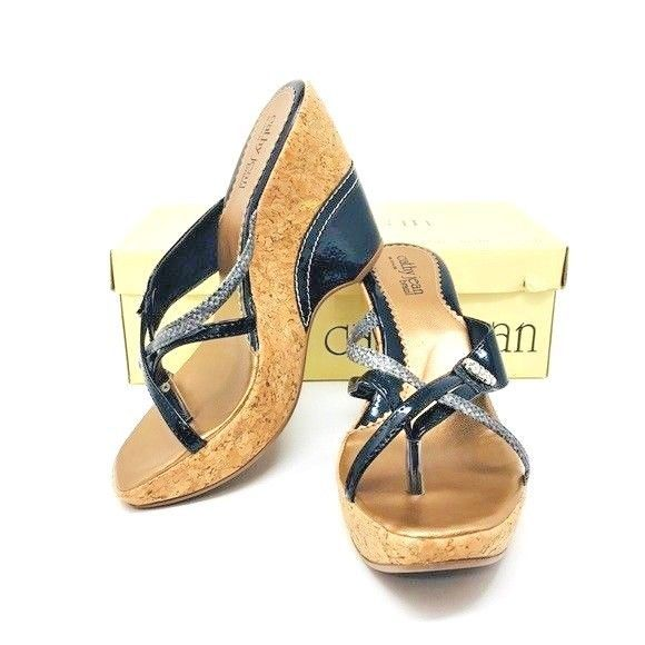 a16ad1d1b05d Cathy Jean Brazil Wedge Sandal Size 7 New In Box  CathyJean  Sandals ...