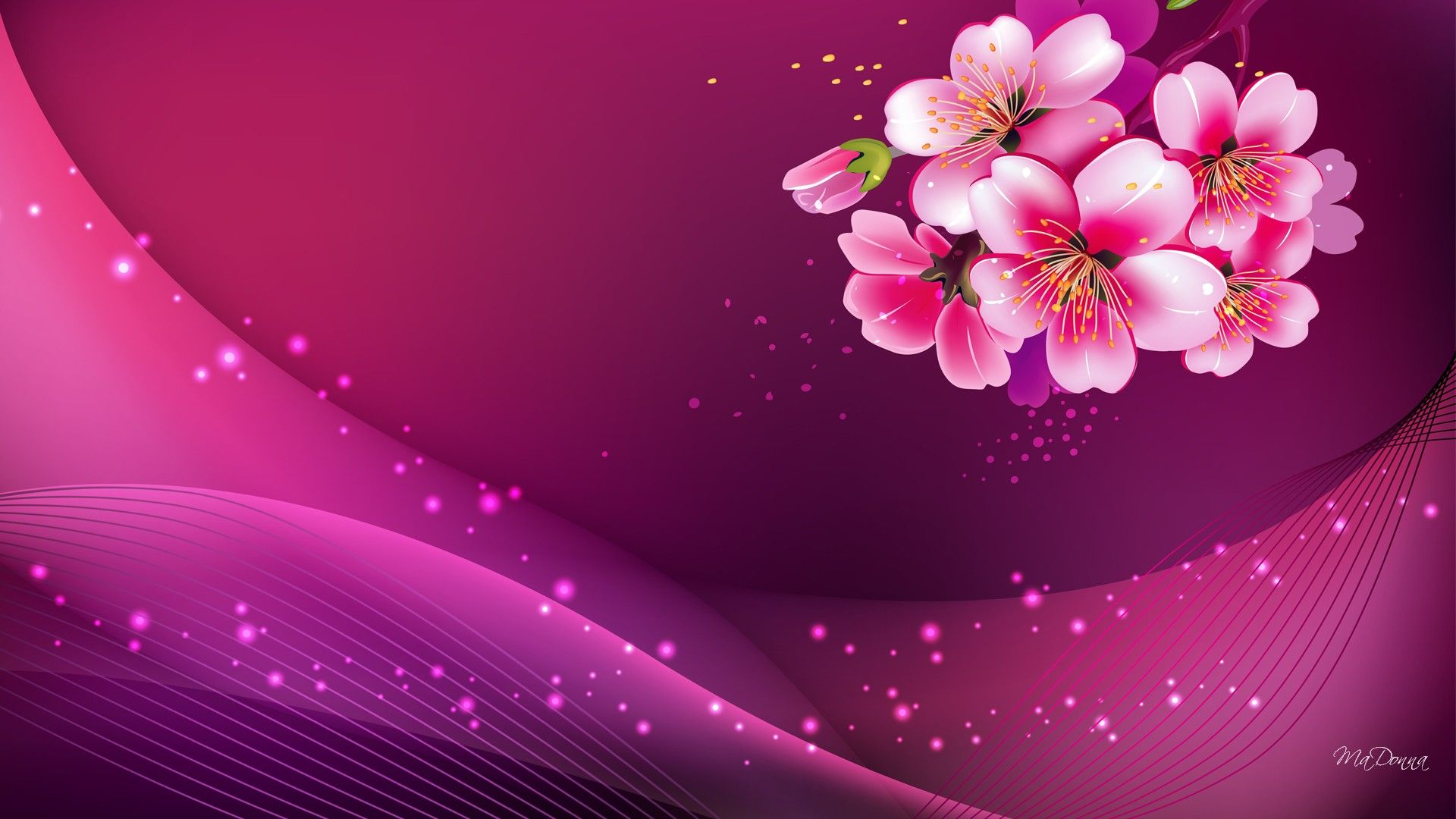 Widescreen Pink Background Hd Image Pc Colours In 2019 Pinterest