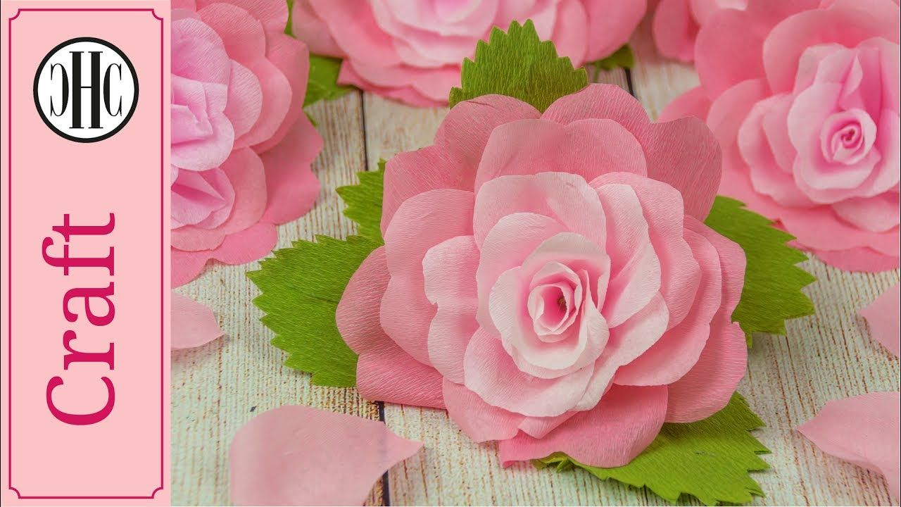 How To Make Crepe Paper Rose Free Printable Template Country