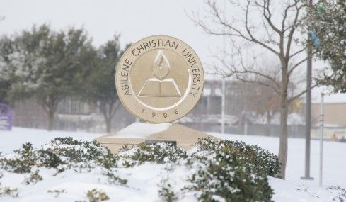 2 1 11 Snow Day Campus Actually Shuts Down Abilene Christian Christian Abilene