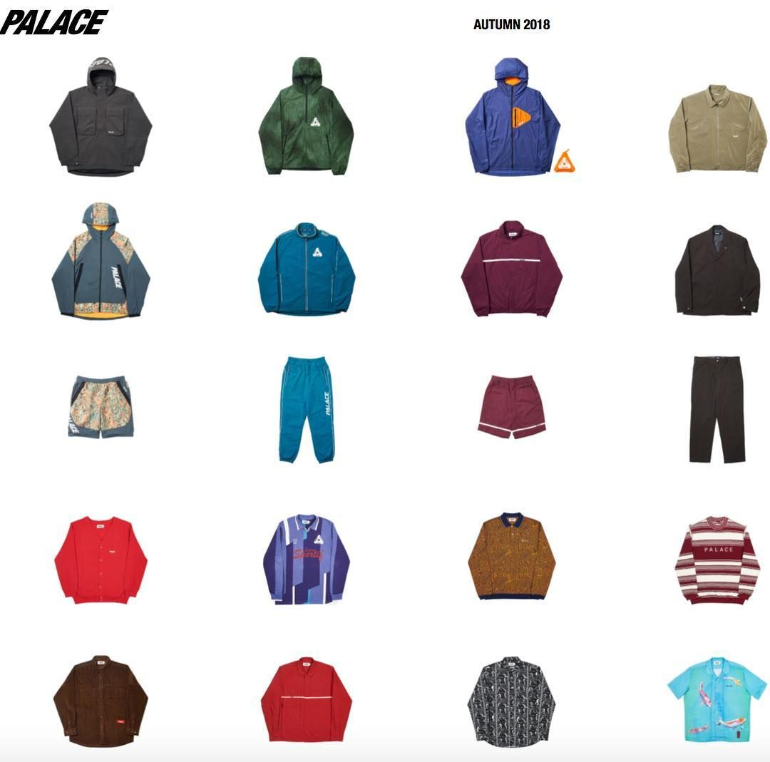 Palaces Summer 2018 collection.