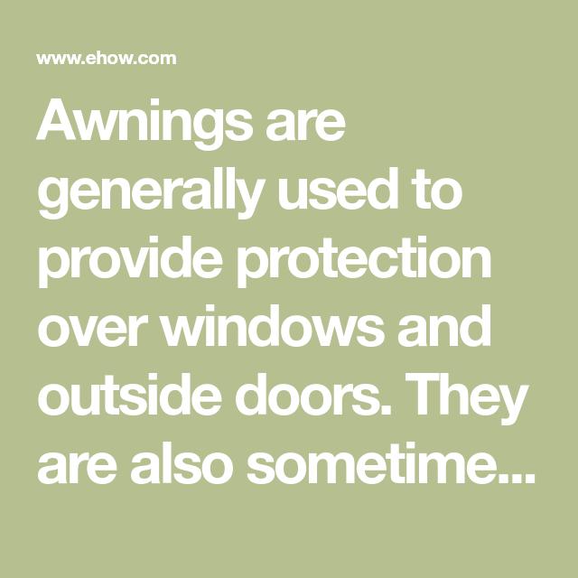 How to Paint an Aluminum Awning | Aluminum awnings, Metal ...