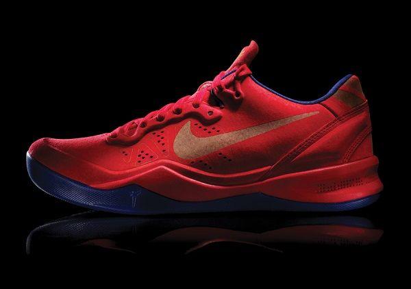 low priced 01ffc ff09c Nike Kobe 8 Red Suede