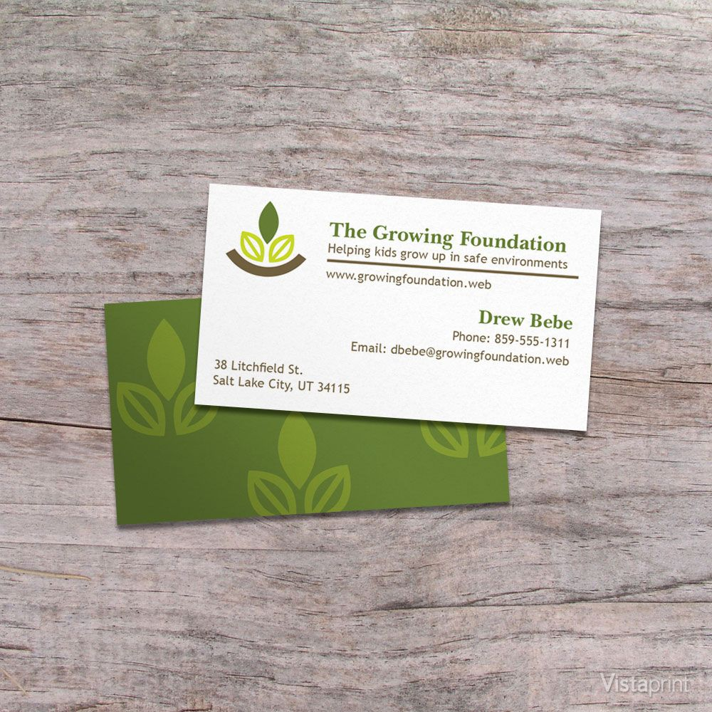 white landscape design business cards vistaprint