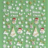 Snowy santas sticker sheet