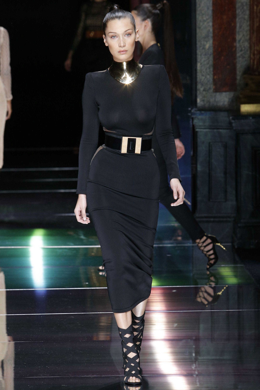 Balmain Spring 2016 Ready-to-Wear Collection Photos - Vogue - Bella Hadid
