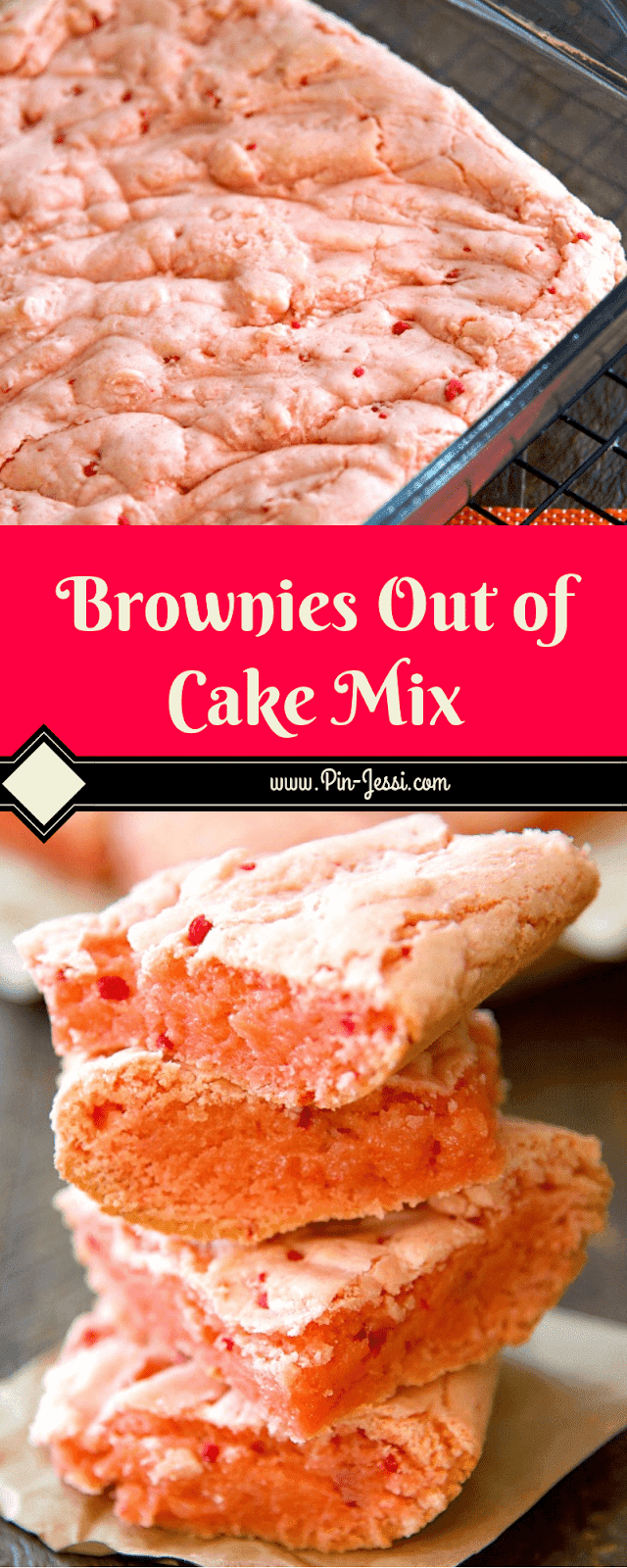 Brownies Out of Cake Mix Recipe -   12 cake Mix desserts ideas
