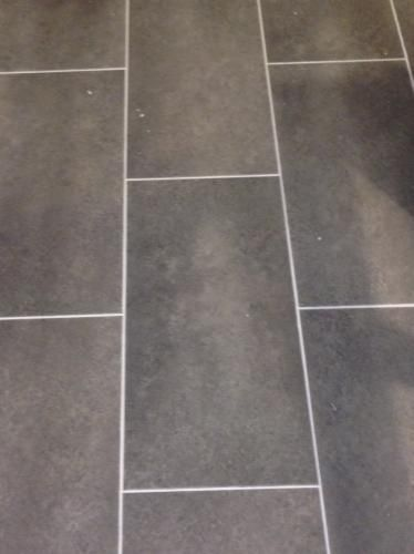 diy herringbone peel-n-stick tile floor before and aftergrace