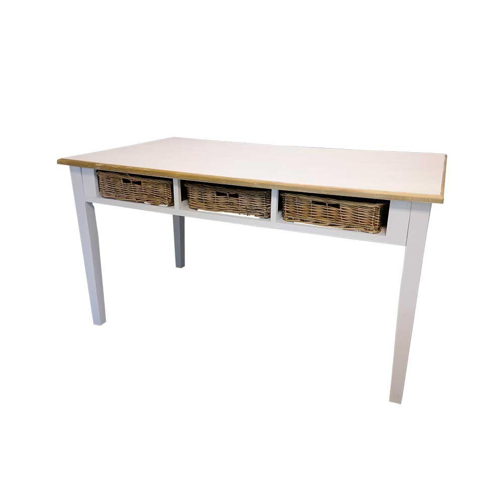 Tisch eichenmoebel runder tisch : Esstisch mit körben weiß jetzt bestellen unter: https: moebel