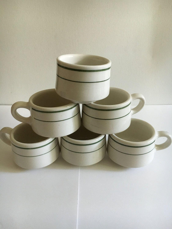 6 Vintage Buffalo Restaurant Hotel Ware Coffee Mugs Retro Diner Mugs Stoneware Buffalo Pottery Coffee Cups Set of Six 1960s sturdy mugs & 6 Vintage Buffalo Restaurant Hotel Ware Coffee Mugs Retro Diner ...