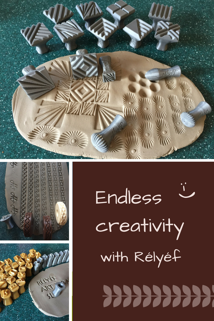 Pottery ideas are endless with Rélyéf pottery tools - easy use for kids and beginners  #ceramics #potterytools #relyefcz #DIY  #inspiration #potteryideas