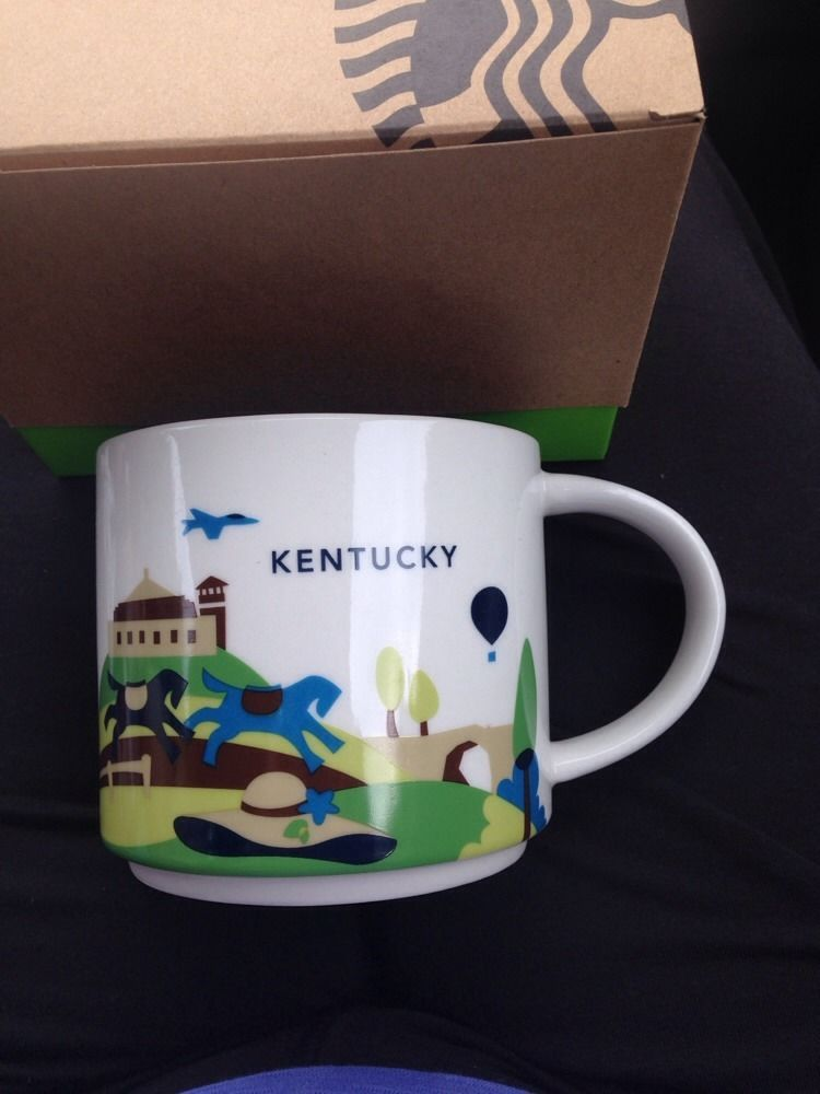 Starbucks Kentucky state Cup Mug You Are Here Collection YAH Series Boxed #StarbucksCoffeeCompany