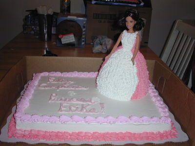 Barbie 3D on Half Sheet Cake Birthday Cakes Pinterest