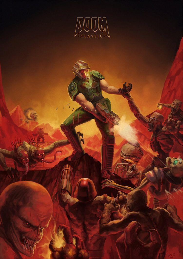 Doomguy Character Doom Videogame Doom Doom Game