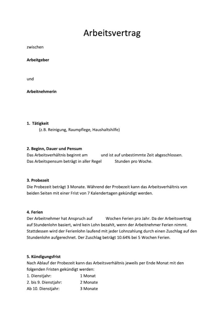 Dehoga Shop Muster Arbeitsvertrag Mecklenburg