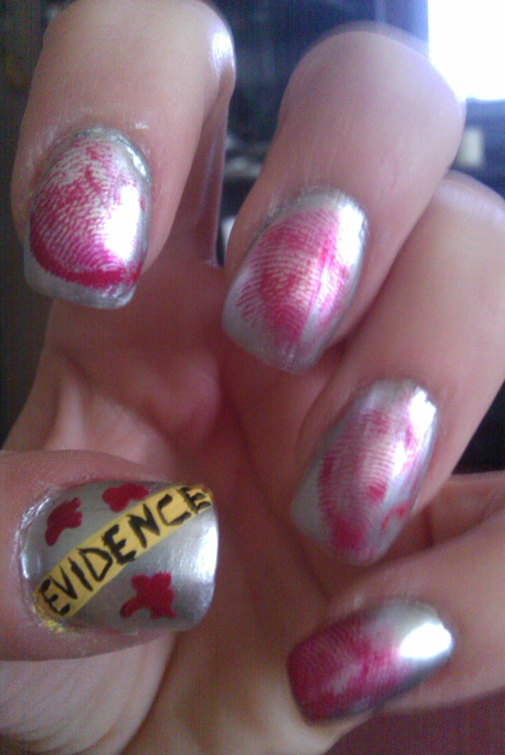 crime scene! | My Nails | Pinterest | Manicure