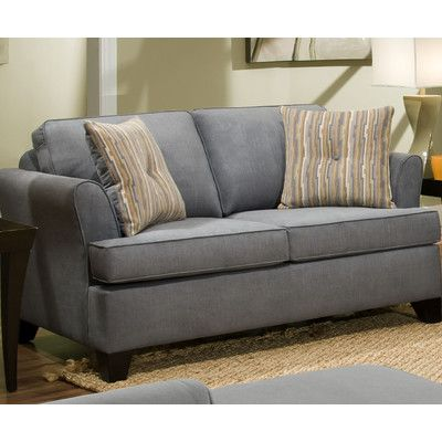 charcoal sofa simmons size loveseat large of set flannel and