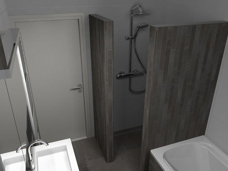 In deze badkamer is de tegellijn van tagina warm stones mooi zichtbaar de vloertegel is - Hoe een grote woonkamer te voorzien ...
