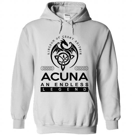 ACUNA - An Endless Legend - 2016 - #funny gift #retirement gift. LOWEST SHIPPING => https://www.sunfrog.com/No-Category/ACUNA--An-Endless-Legend--2016-8316-White-Hoodie.html?68278