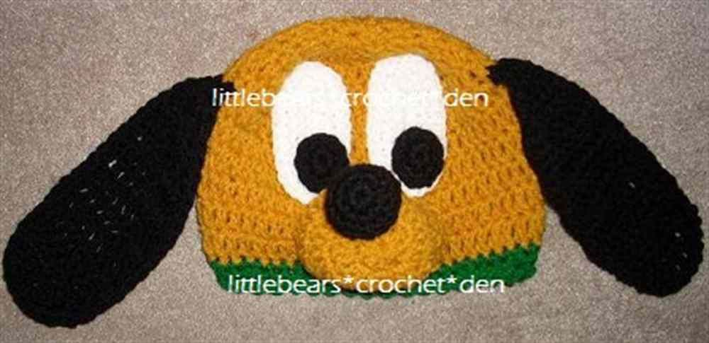 DISNEY CUSTOM Crocheted Boutique PLUTO Beanie Hat  5fc3da6235