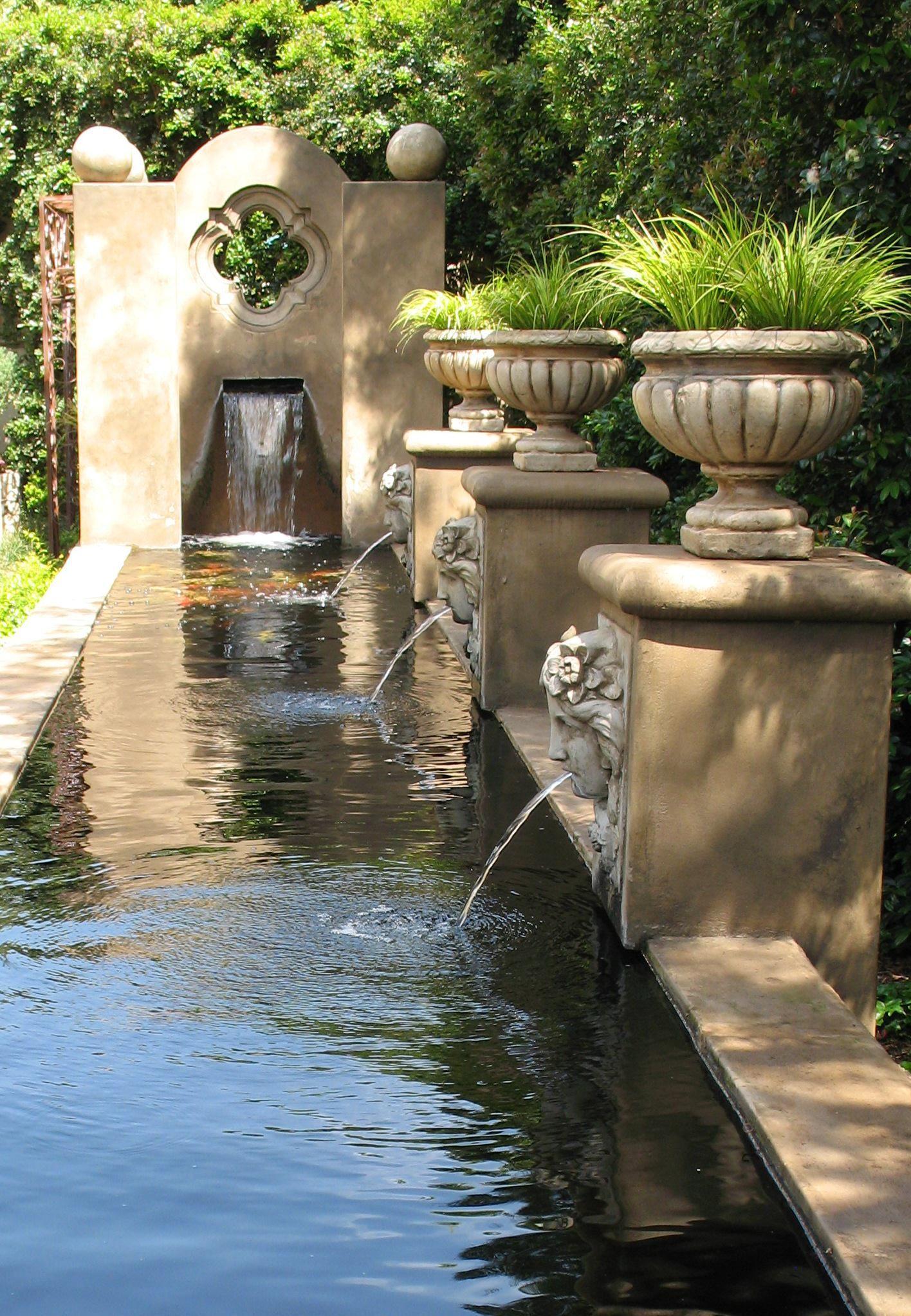 Formal koi pond formal gardens pinterest koi water for Formal koi pond