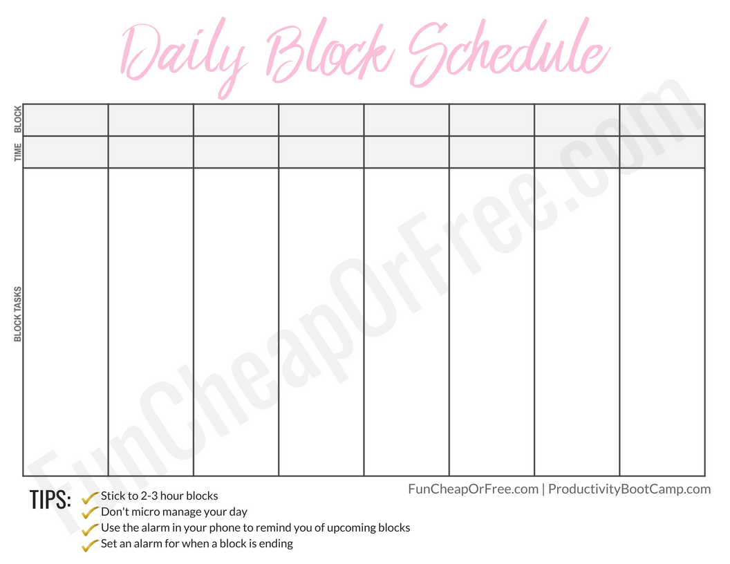 The Block Schedule System And What It Is