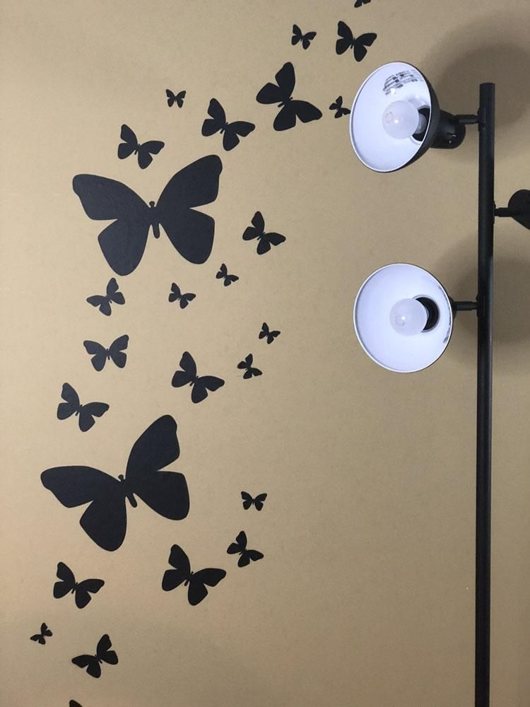 butterfly wall decals-black in 2019 | pretty girls bedroom ideas