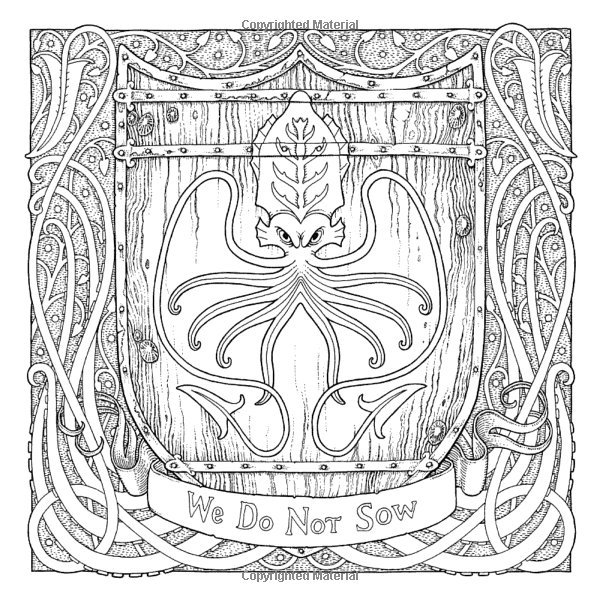 The Official A Game Of Thrones Coloring Book George R R