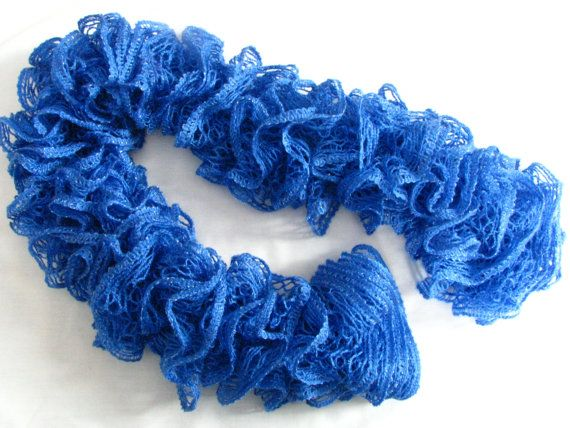 Blue Ruffle Scarf by KimberlyCollection on Etsy, $18.00