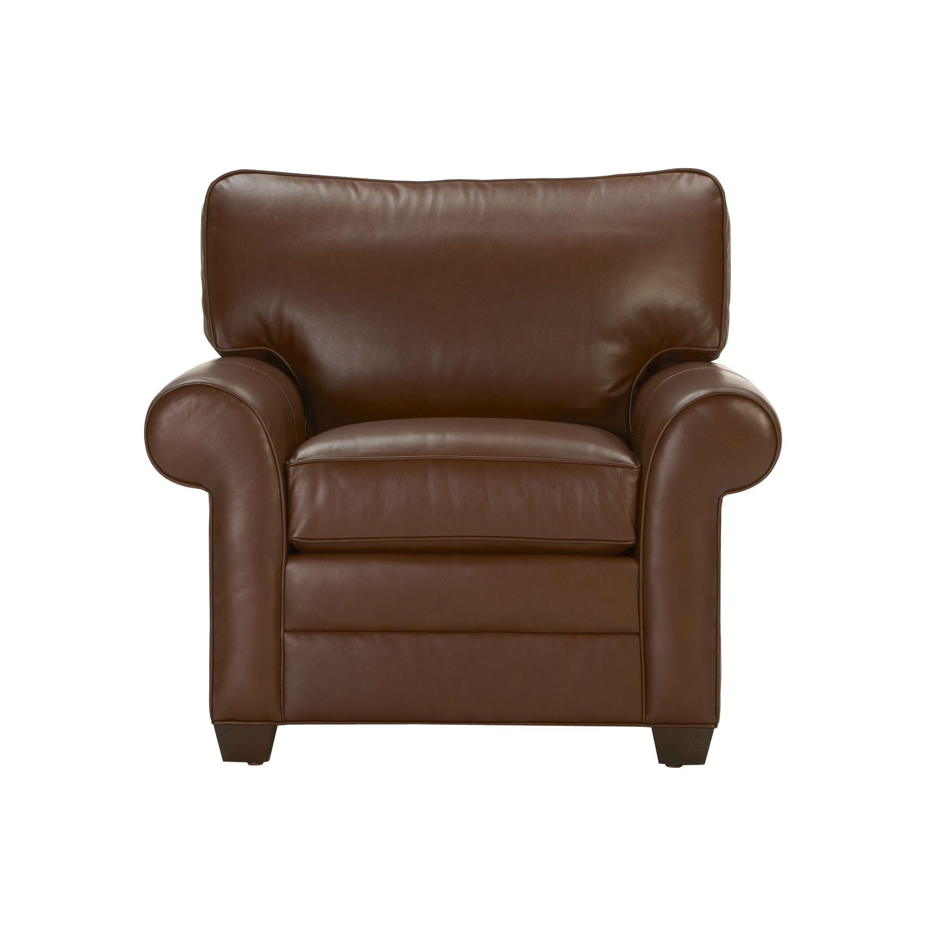 Bennett Express Roll-Arm Leather Chair - Ethan Allen US