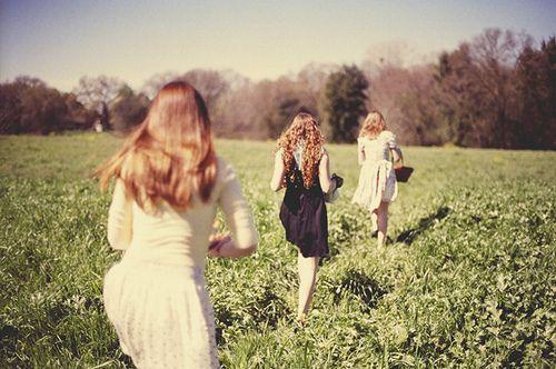 Walking between good friends...a safe place.