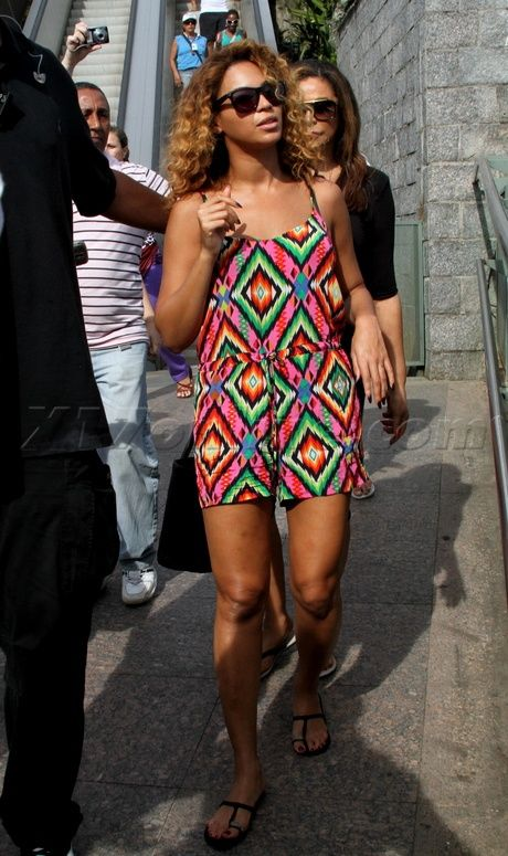 03eb35d14ae beyonce romper at christ the redeemer statue in brazil