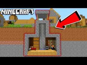 HIDDEN House Inside A WELL In Minecraft Minecraft Servers View - Minecraft spiele mit waffen