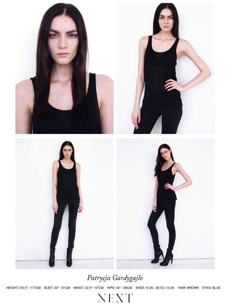 cb3cf6a498321 Polaroids Digitals - Next Models NY F W 14 Polaroids Portraits Model test