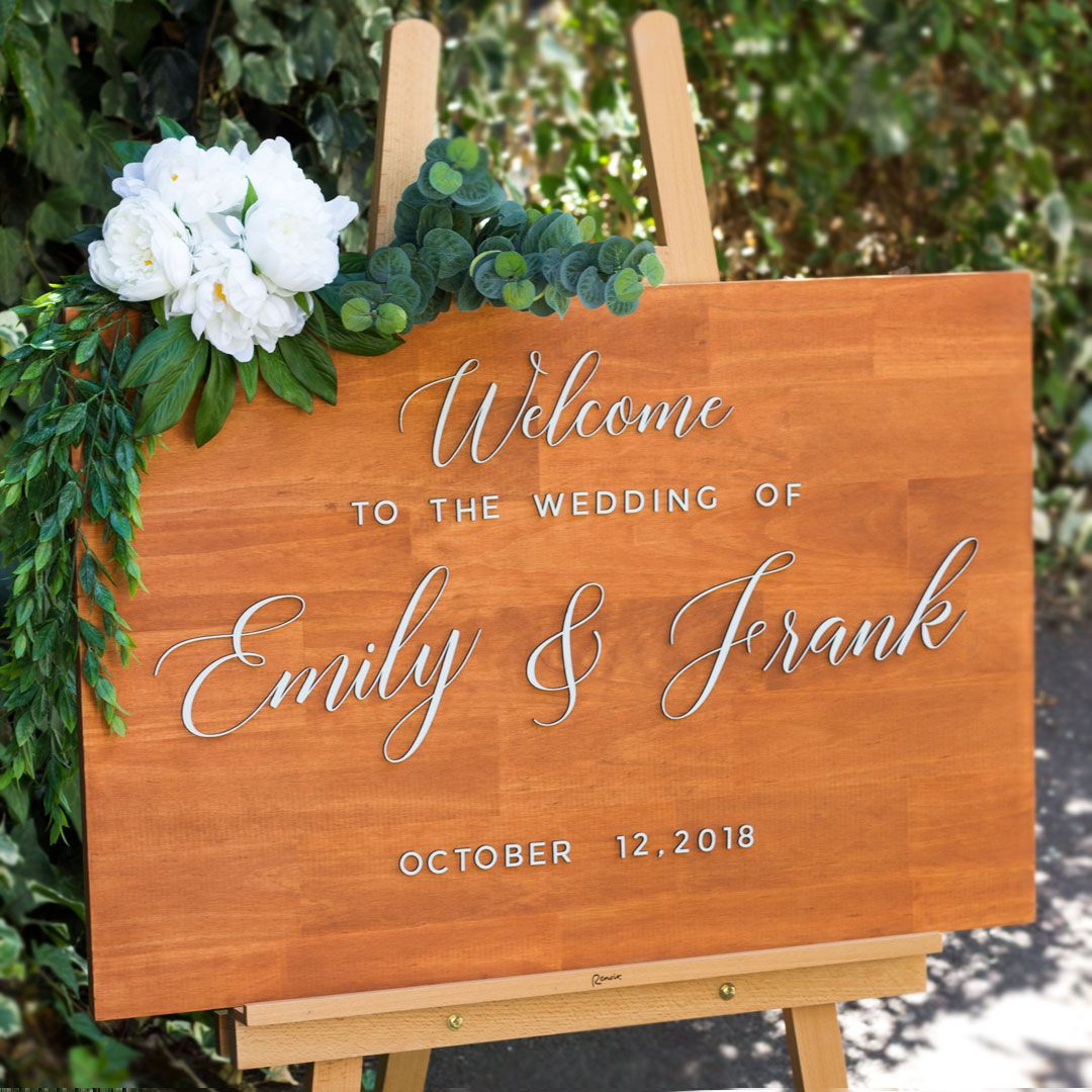 Wedding decorations near me october 2018 Personalized Wooden Welcome Sign  Future Mrs  Pinterest