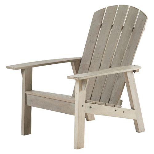fauteuil de jardin bois recycl adirondack 2 coloris hanjel palettes pinterest fauteuils. Black Bedroom Furniture Sets. Home Design Ideas