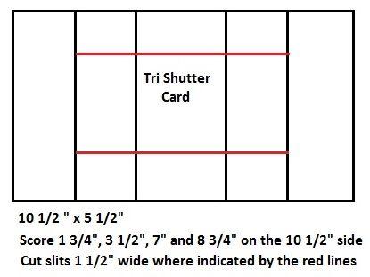 Debbie S Designs Tri Shutter Card Dimensions Trifold Shutter Cards Card Making Templates Fun Fold Cards
