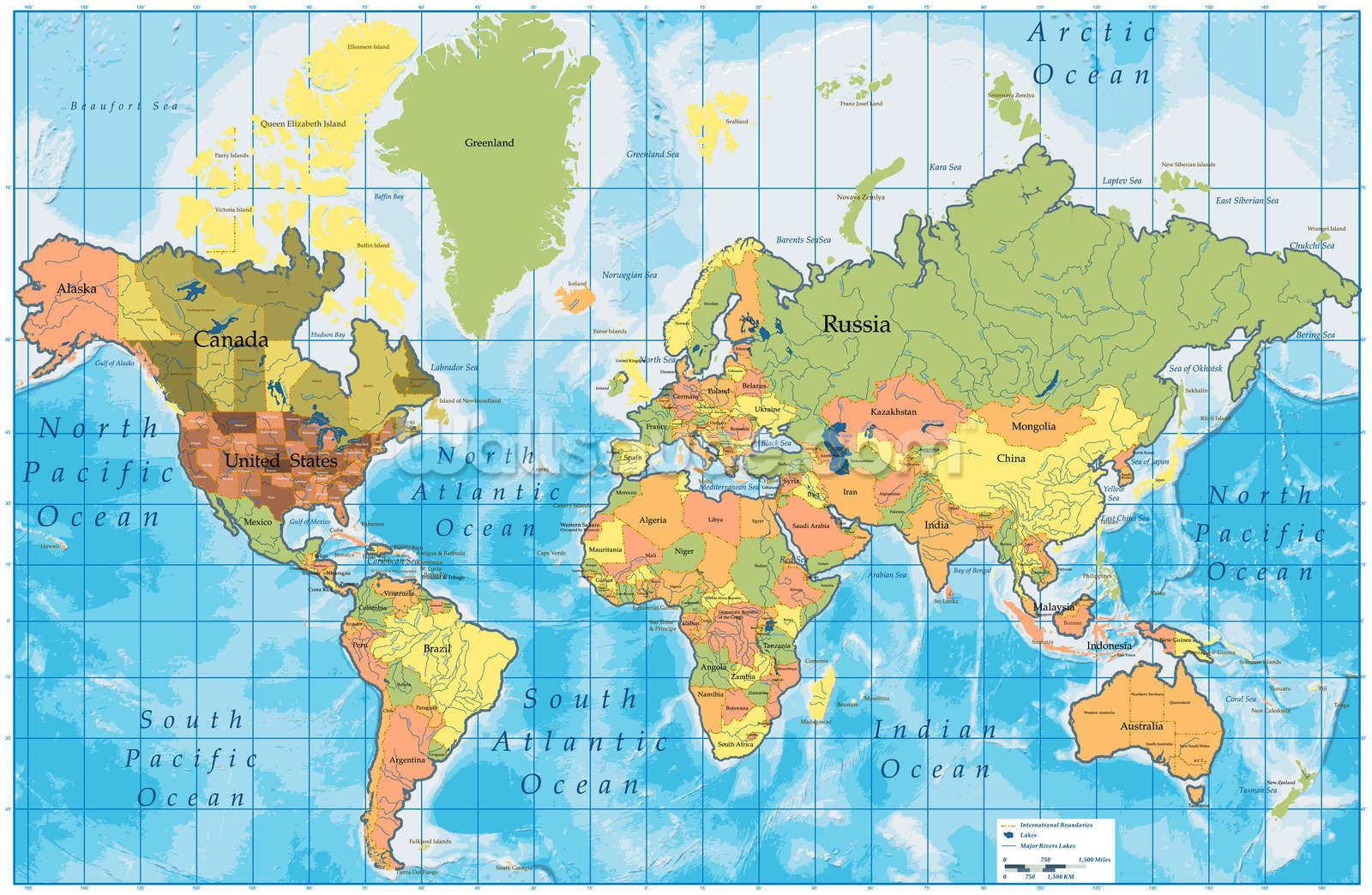 World Map Wall Mural HD Wallpapers Pinterest Names of