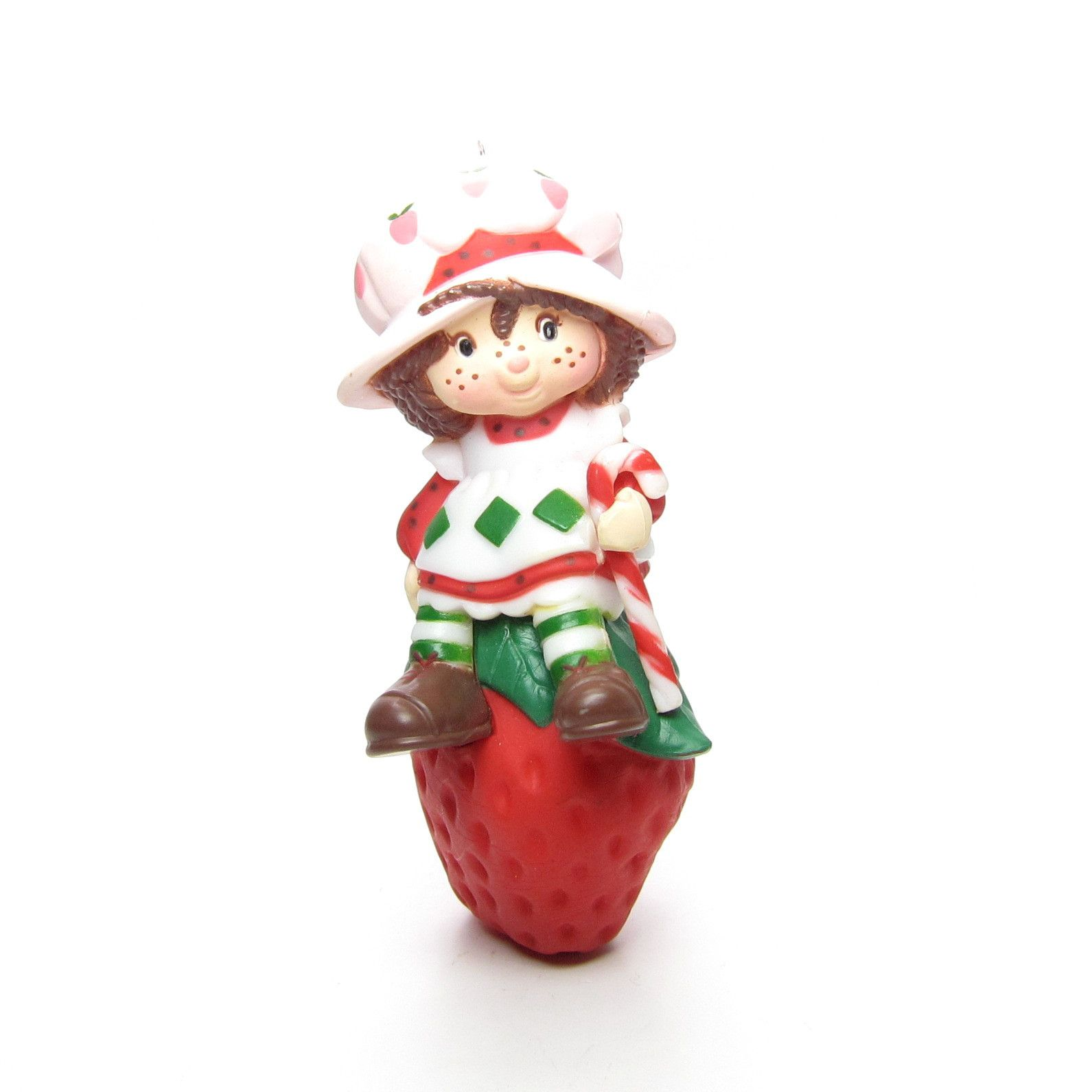 Strawberry Shortcake Christmas Ornament With Candy Cane