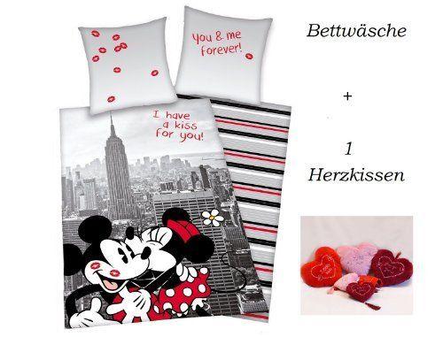 Mickey Mouse Minnie Mouse Micky Maus Minni Maus Bettwäsche Für